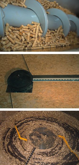 Fyringsanlæg til flis, spåner og træpiller